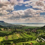 landscape around Badacsony, lake Balaton