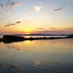 sunset on the lake Balaton