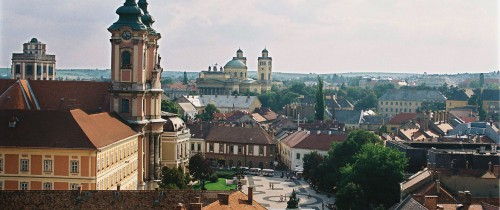 eger townscape from the castle