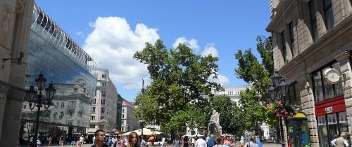 vorosmarty square from Vaci street